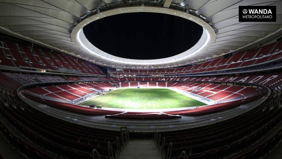 Césped colocado: ya se puede jugar al fútbol en el Wanda Metropolitano