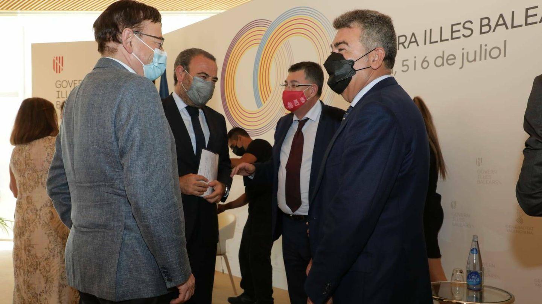 Ximo Puig, Gabriel Escarrer, Enric Morera y Carlos Bertomeu. (EFE)