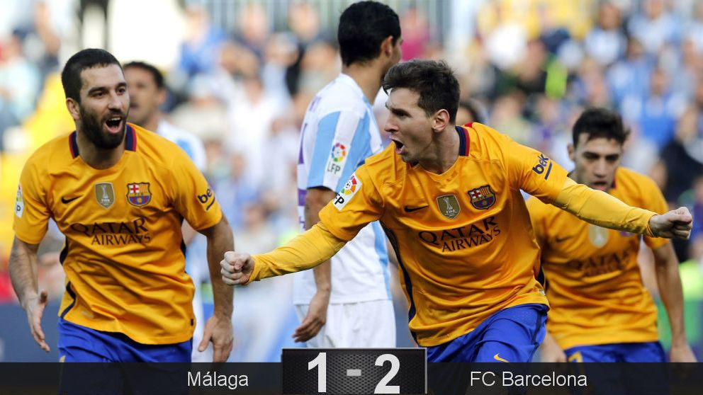 Un chispazo del Messi más gris salva del tropiezo a un Barça lastrado por su zaga