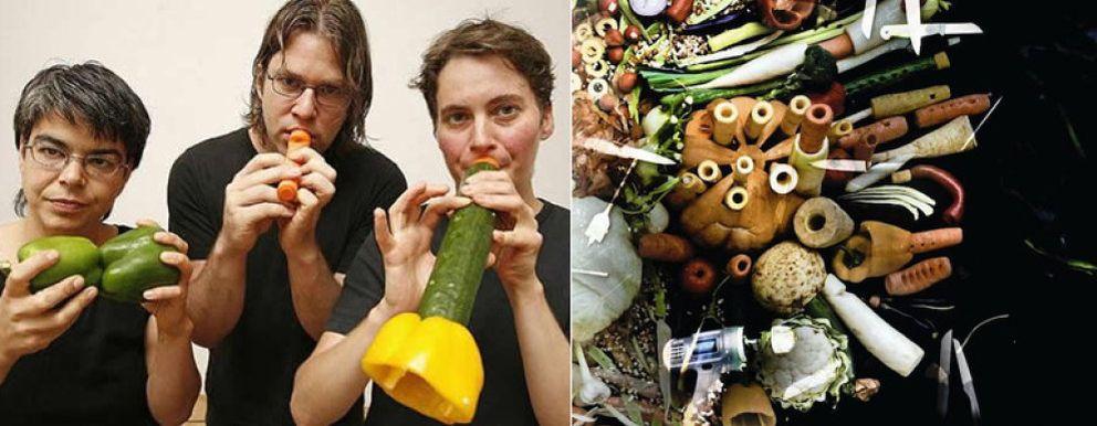 Foto: Una orquesta de verduras para celebrar el centenario del Mercado de San Miguel