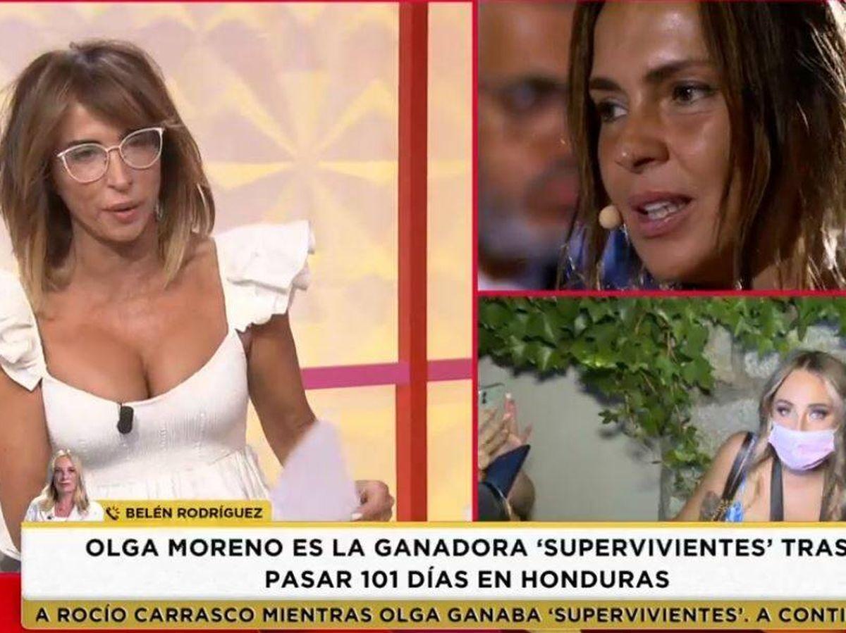 Foto: María Patiño, presentadora de 'Socialité'. (Mediaset España)