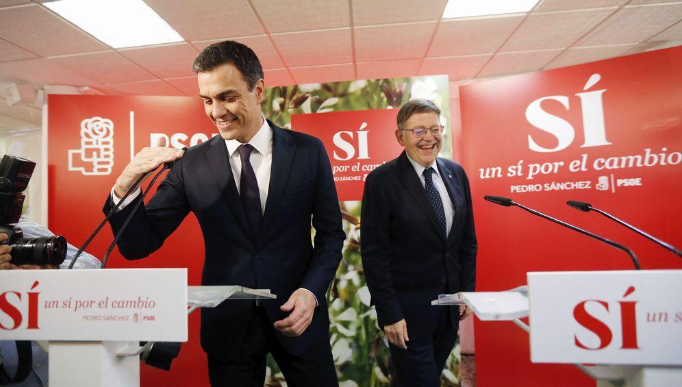 Foto: Pedro Sánchez y Ximo Puig, en mayo del año pasado, antes de las últimas generales. (EFE)