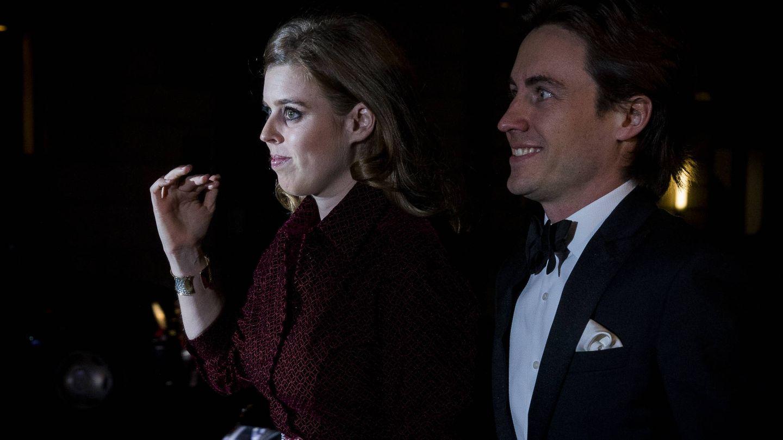 Beatriz de York y Edoardo Mapelli, en su primera aparición oficial. (Getty)