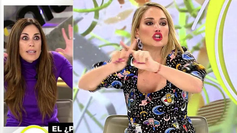 Alba Carrillo e Isabel Rábago, en 'Ya es mediodía'. (Telecinco)