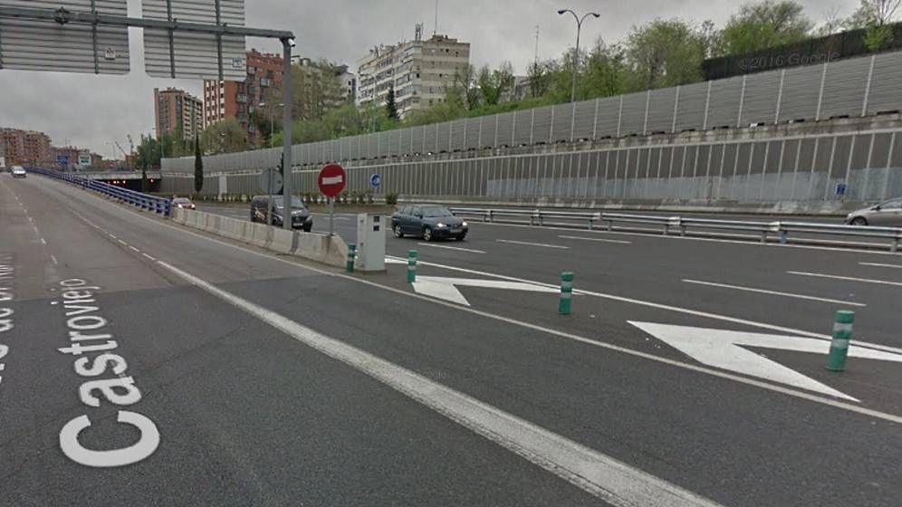 Foto: Lugar exacto donde se encuentra el nuevo radar de la M-30. (Google Maps)