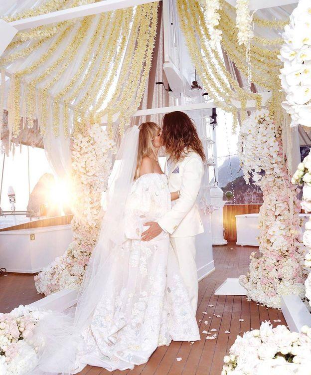 Foto: Heidi Klum y la foto que ha compartido de su boda.(Instagram)