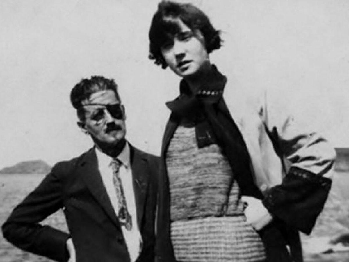 Foto: James Joyce y Nora Barnacle.