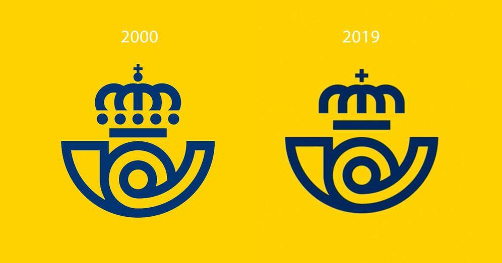 Foto: Comparación entre los dos logos.