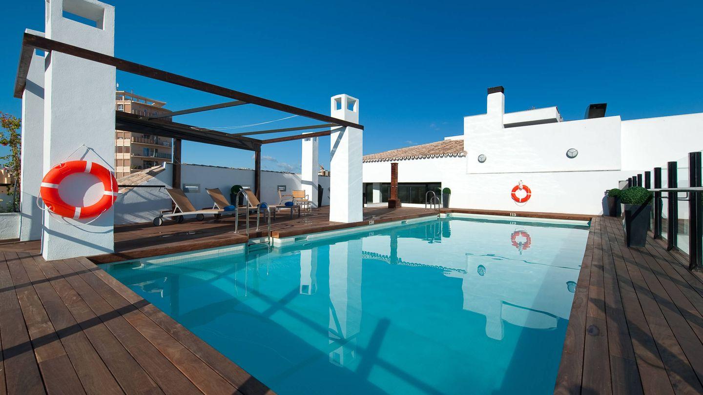 Así es la piscina del Vincci Posada del Patio, en Málaga. (Cortesía)