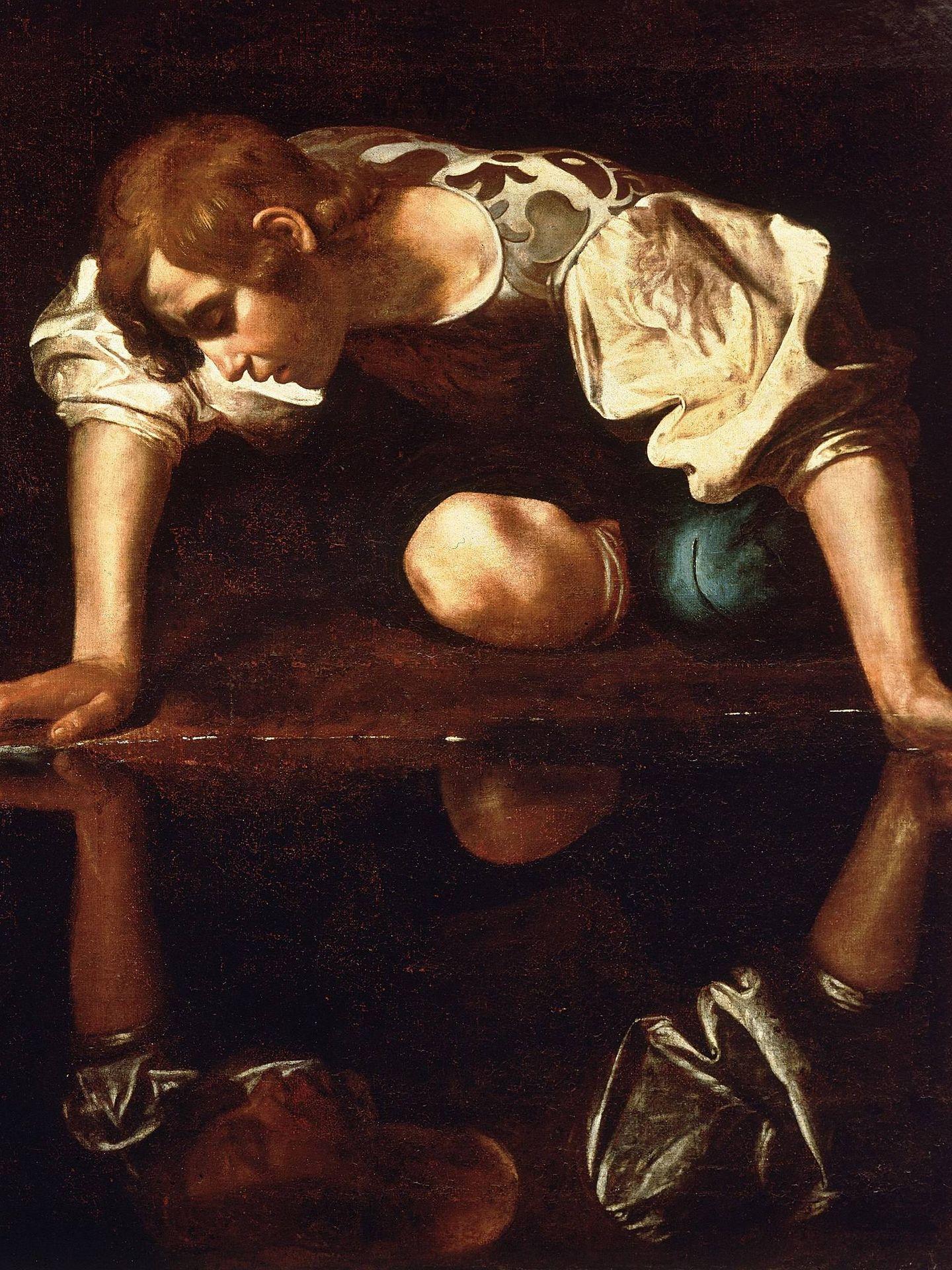 'Narciso', Caravaggio, 1594-96. Gallerie Nazionali d´Arte Antica.