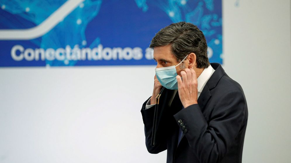 Foto: El presidente de Telefónica, José Maria Álvarez-Pallete, en un acto en Madrid. (EFE)