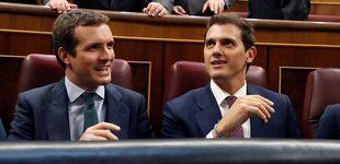 Post de Casado, Rivera y Abascal cargan contra Bildu por su petición de veto al Parlamento Vasco