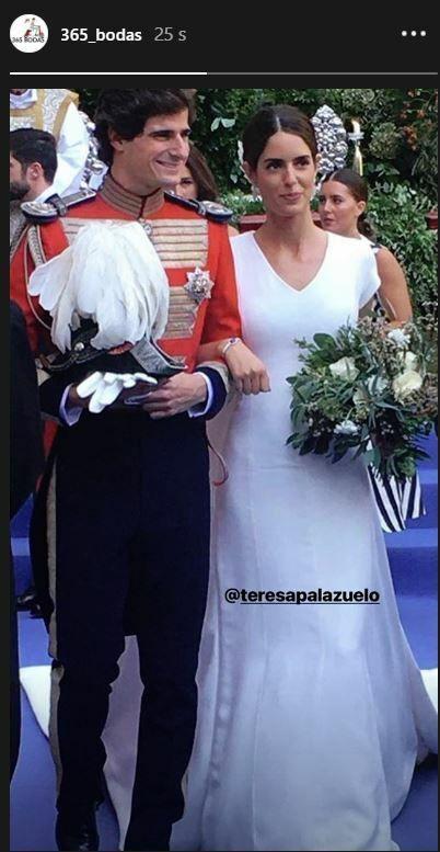 Vestido Sofía Palazuelo. (Redes)