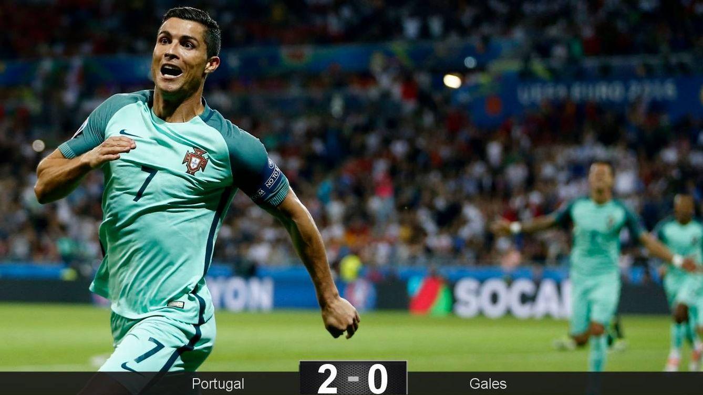 Foto: Cristiano celebra su gol. (EFE)