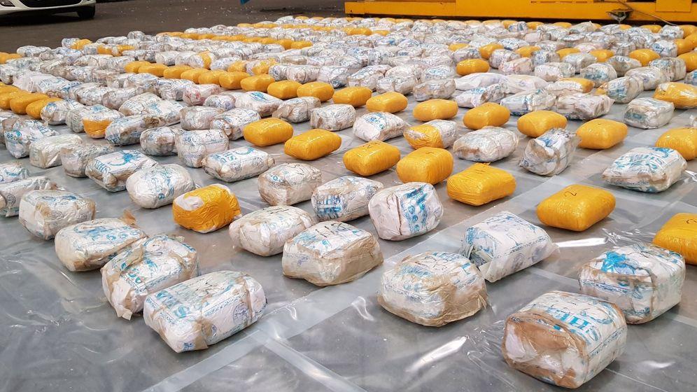 Foto: Foto del alijo de droga incautado en el puerto británico de Felixstowe