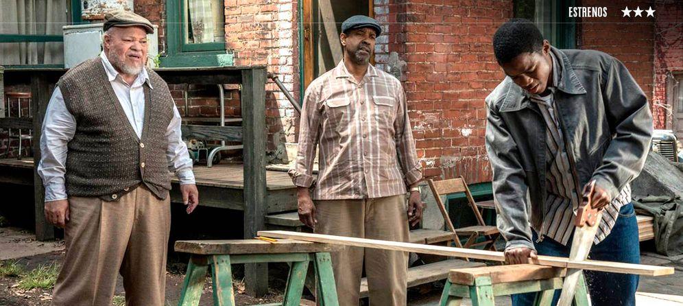 Foto: Stephen Henderson, Denzel Washington y Jovan Adepo, en un fotograma de la película.