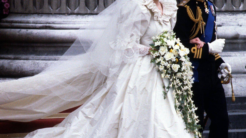 El príncipe y Lady Di, el día de su boda.