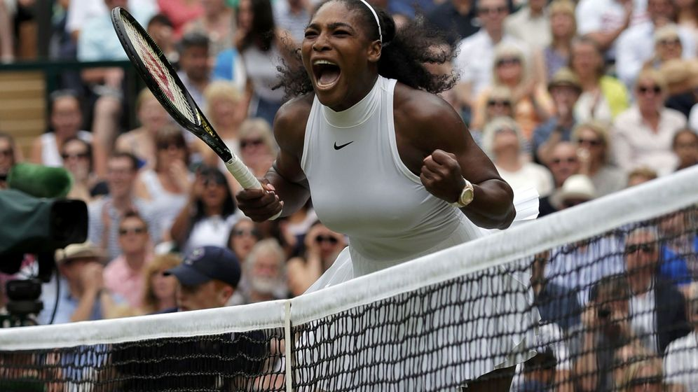 Foto: La celebración de Williams tras ganar el primer set. Foto: Andrew Couldridge (Reuters)