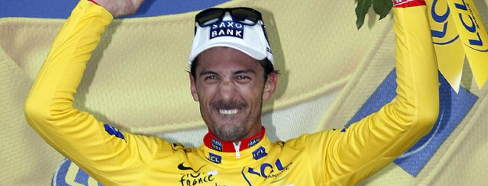 Foto: Cancellara, primer líder del Tour de Francia