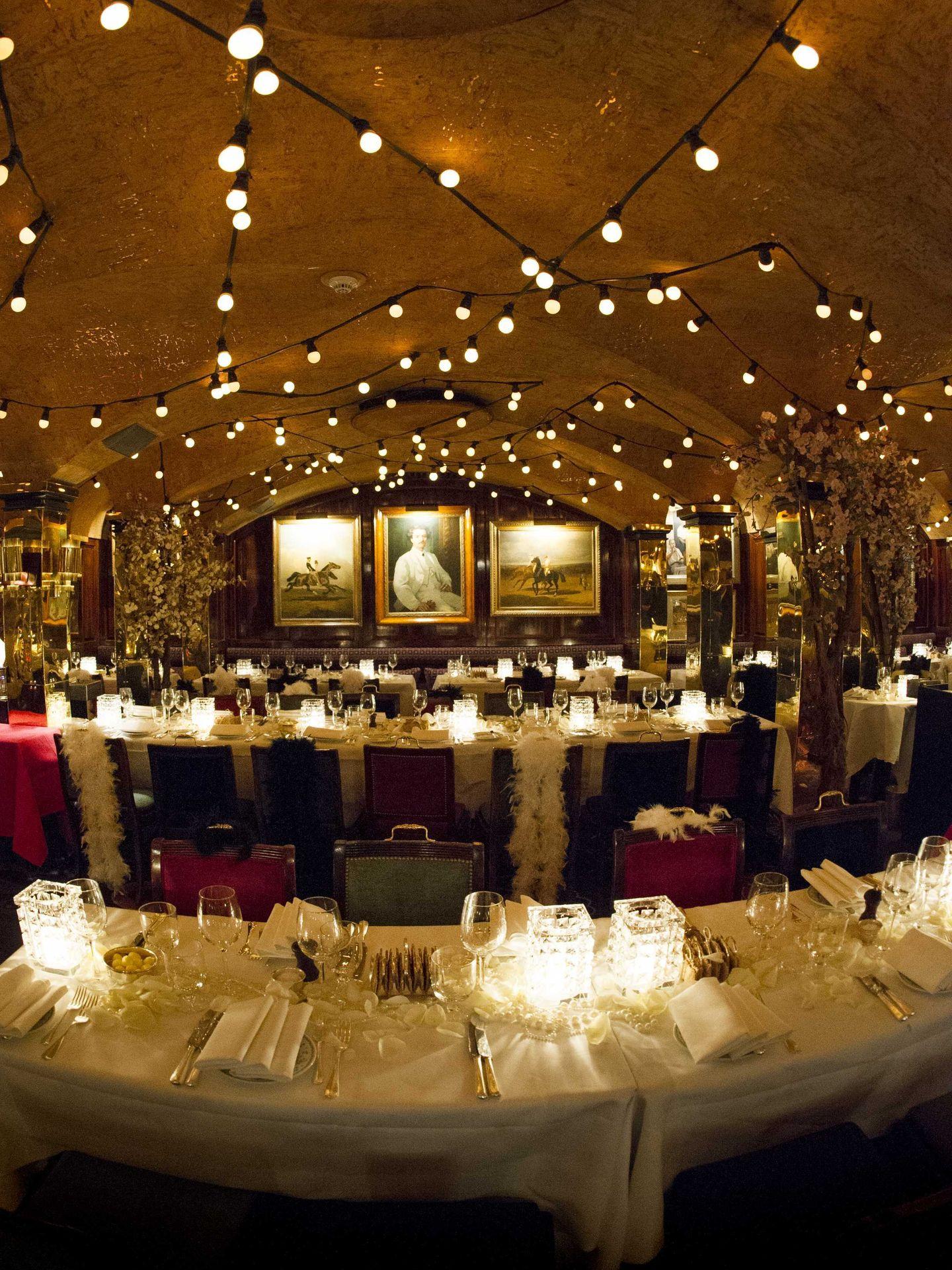 Uno de los salones restaurante de Annabel's