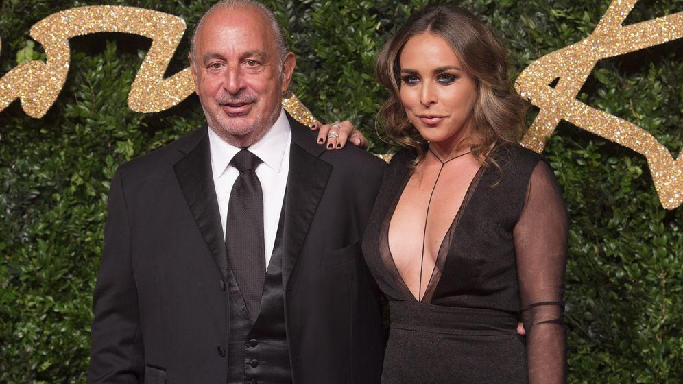 Foto: El empresario británico Philip Green y su hija Chloe Green. (EFE)
