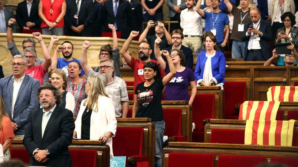 Foto: Debate de la ley del referñendum en el parlament