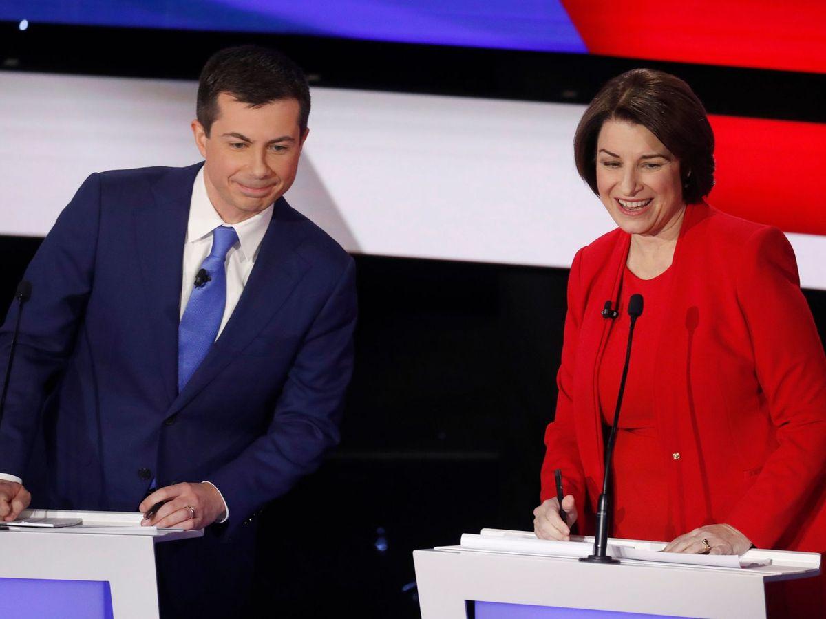 Foto: Amy Klobuchar, en un debate. (Reuters)