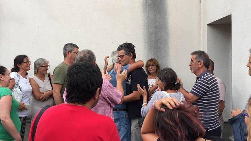 Clavero, al salir del juzgado de Ubrique (Plataforma Ciudadana Sierra de Cádiz)