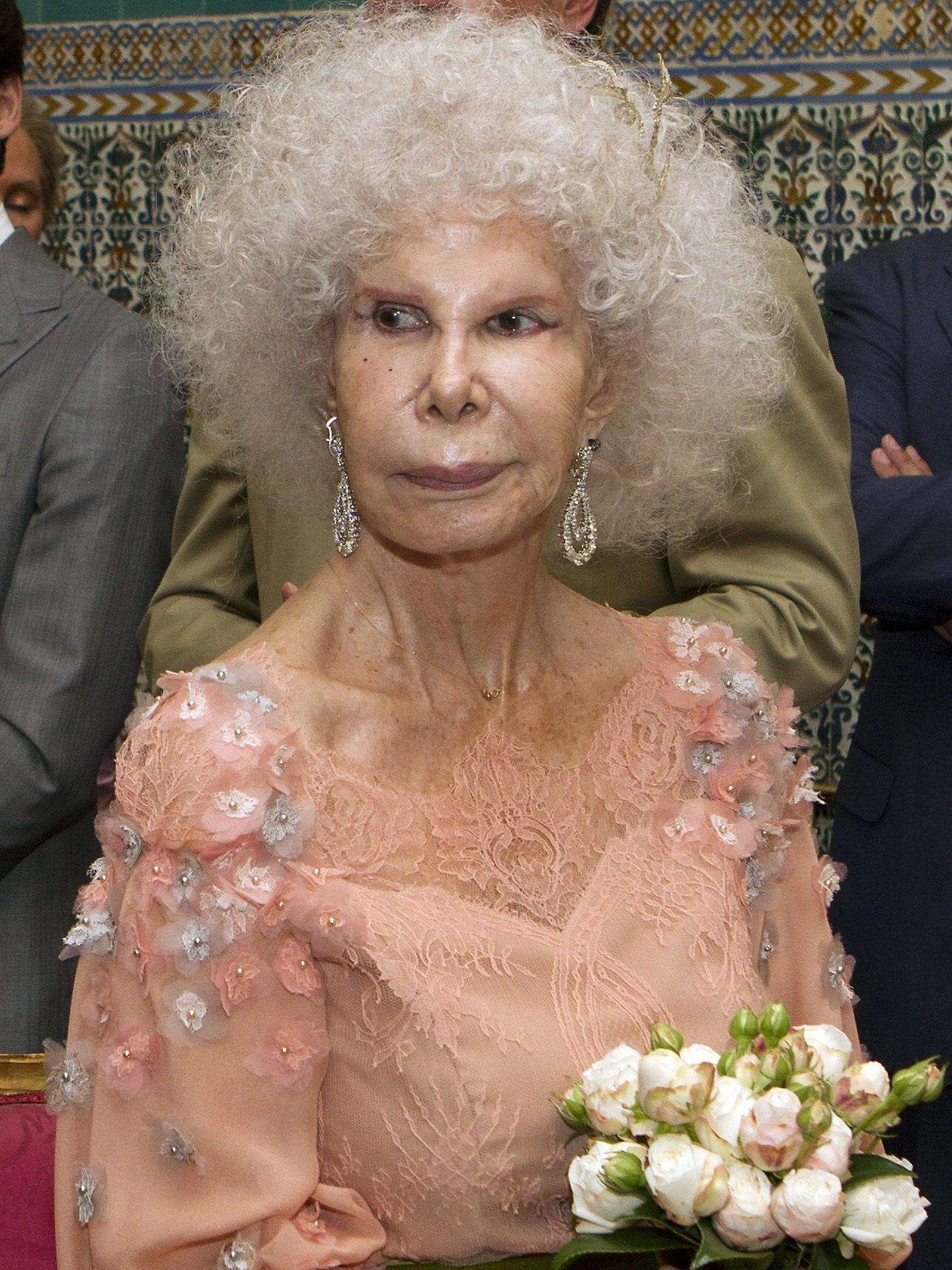 Cayetana de Alba, en su tercera boda. (Getty)