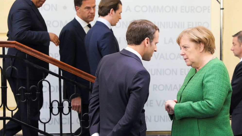 Foto: Emmanuel Macron y Angela Merkel. (Reuters)