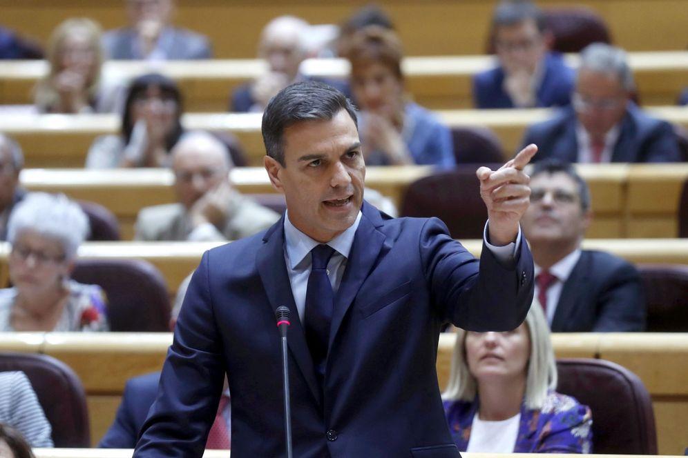 Foto: Pedro Sánchez, durante la sesión de control en el Senado de este 11 de septiembre. (EFE)
