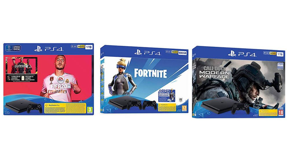 Consolas PS4 con Fornite, Fifa20, Call of Duty, en oferta en Black Friday