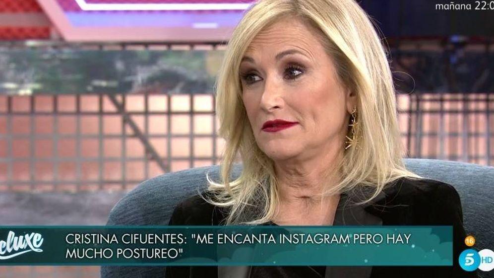 Foto: Cristina Cifuentes, en el plató de 'Sábado Deluxe'. (Telecinco).