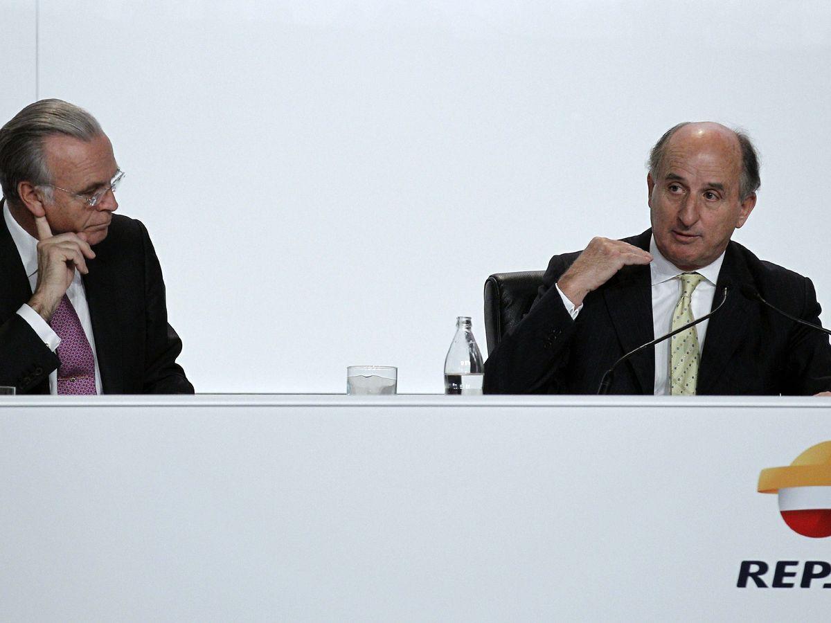 Foto: Antonio Brufau, junto a Isidre Fainé. (EFE)
