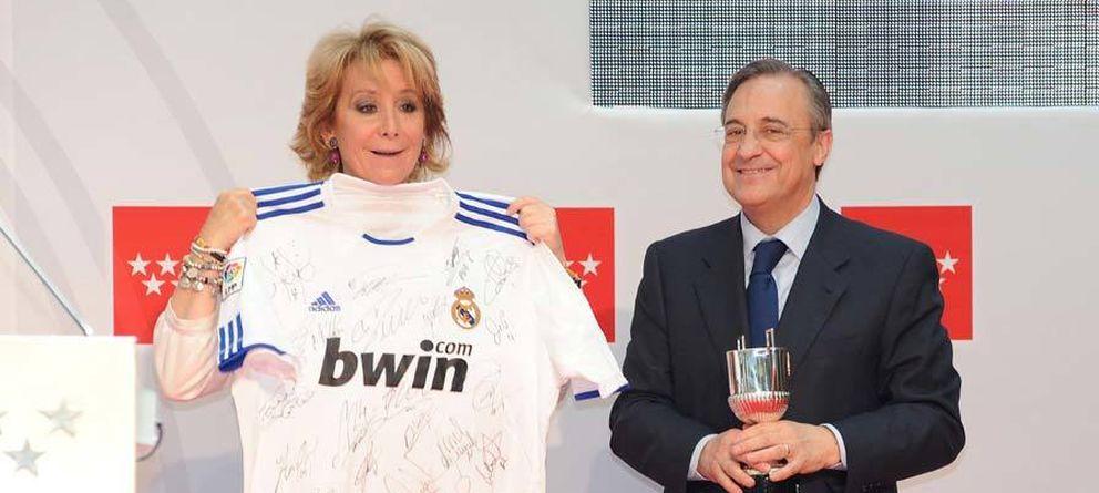 Foto: La expresidenta de la Comunidad, con Florentino Pérez