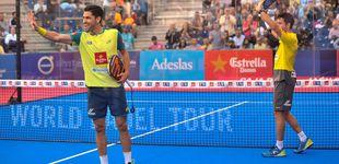 Post de Sanyo Gutiérrez juega al engaño en las semifinales del Jaén Open de pádel