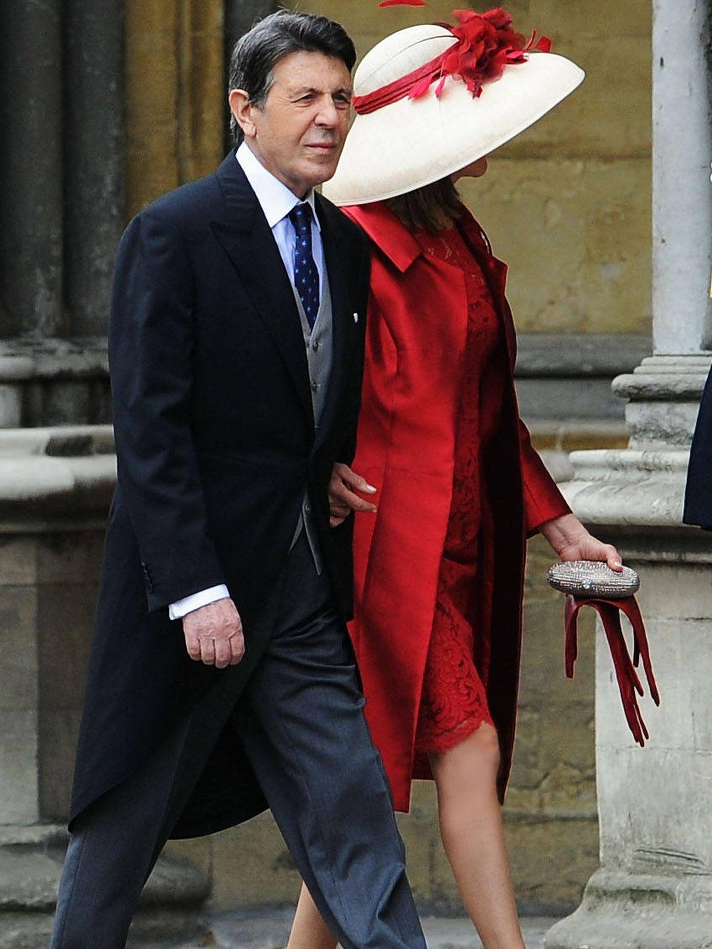 Manuel y su esposa, llegando a Westminster. (Foto: Porcelanosa)