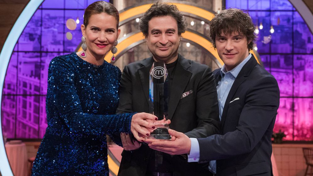 Foto: Samantha, Jordi y Pepe en la final de 'MasterChef 7'. (RTVE)