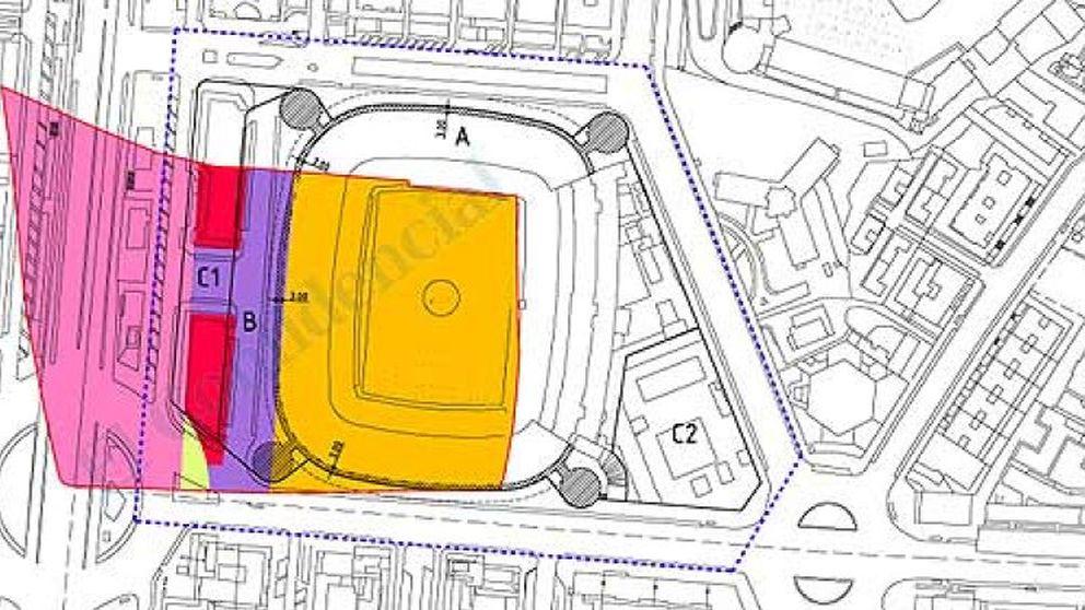 La remodelación del Santiago Bernabéu, en peligro por la propiedad de los terrenos
