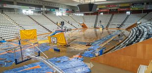 Post de El desbordamiento del río Ter en Girona inunda el pabellón de Fontajau