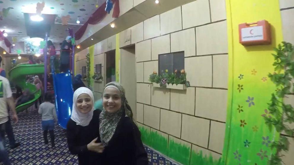 La 'ciudad' bajo tierra para los niños de Alepo