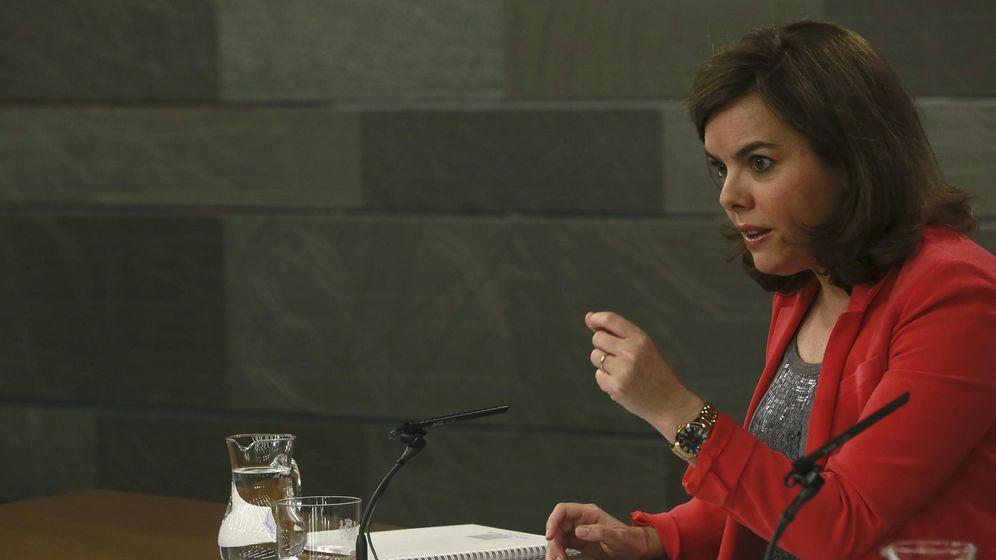 Foto: Soraya Sáenz de Santamaría en la rueda de prensa posterior al Consejo de Ministros (EFE)