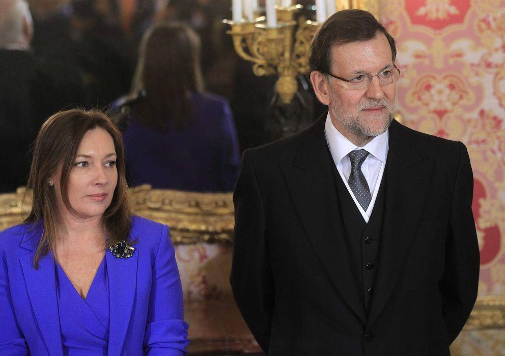 Foto: Mariano Rajoy y su esposa Elvira Fernández, en una imagen del pasado enero (Efe)