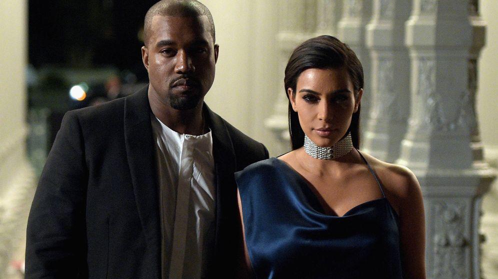 Foto:  Kanye West y Kim Kardashian. (Getty)