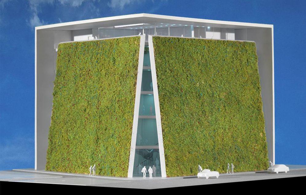 Foto: Vista del proyecto del Museo AMBASZ, que ocupará el solar del Paseo del Prado, 30, en Madrid.