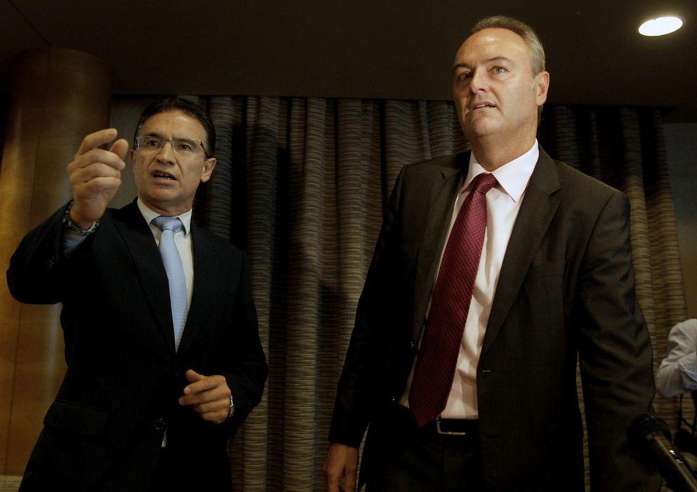 Foto: El presidente del PPCV, Alberto Fabra (d), y el secretario regional, Serafín Castellano. (EFE)