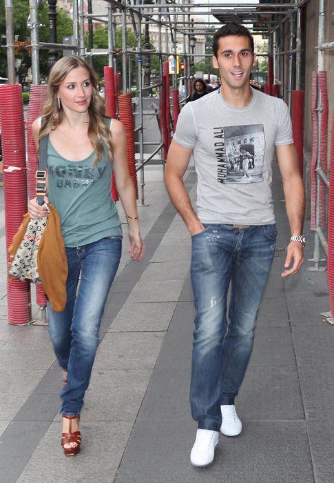 Foto: El jugador junto a su esposa (I.C)