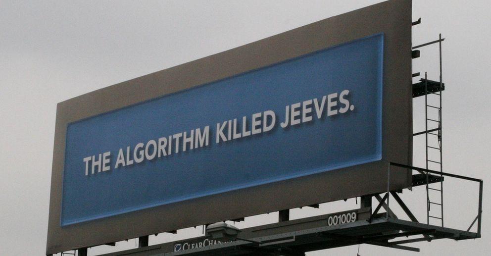 Foto: El algoritmo mató a Jeeves. Foto de John Trainor en Flickr