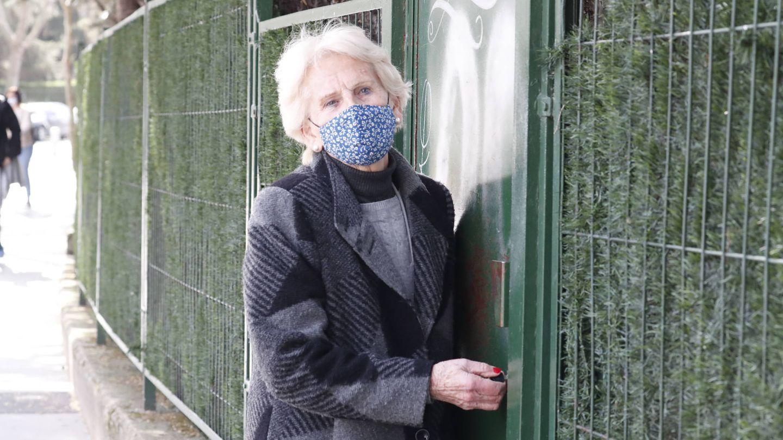 Claire Liebaert, madre de Iñaki Urdangarin, este martes en su casa de Vitoria. (Gtres)