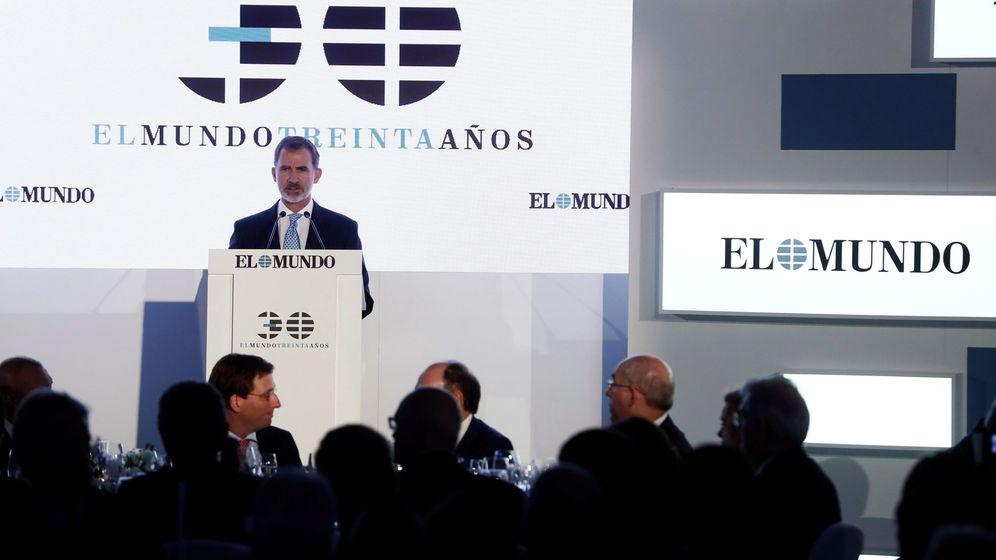 Foto: Celebración del 30° aniversario del diario 'El Mundo'.